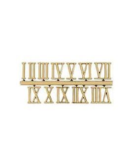CHIFFRES ROMAIN ADHESIFS,JEU DE 12 (1-2-3 ETC), 25 MM