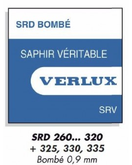 VERRE SAPHIR BOMBE 0,9mm SRD Ø 296