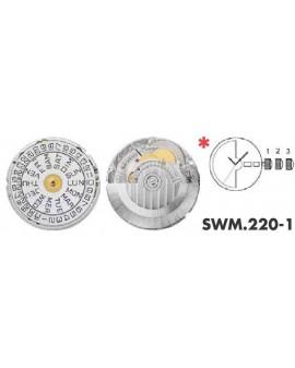 Mouvement Sellita SW220-1 automatique jour date 3H
