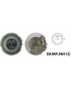Mouvement SHIOJIRI NH15 Automatique jour date 3H