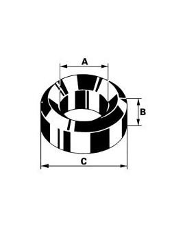 BOUCHONS BRONZE A 2.5 B 1.5 C 4.5     100 Pcs B 23