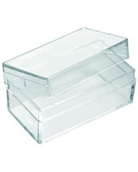 PLASTIC BOX WITH COVER, RECTANGULAR 44x24x19