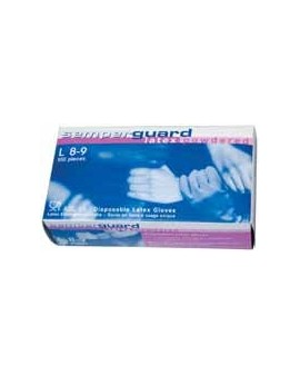 LATEX GLOVE, SIZE M, BTE 100 PCS