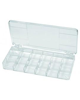 HINGE BOX, 18 CASES, 200X100X23 MM