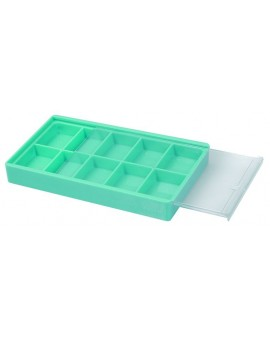 BOX WITH GLASS, 10 CASES, 120X70X15