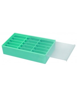 BOX WITH BLUE SUPPLIES, 15...