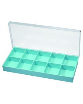PLASTIC BOX, 10 CASES, 296x135x32 MM 17515