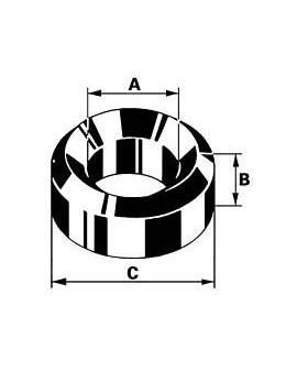 BRONZE PLUG A 2.5 B 1.5 C 4.5
