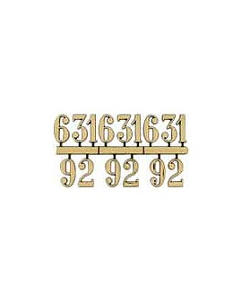 CHIFFRES ARABES ADHESIFS,JEU DE 4 (3-6-9-12), 10 MM