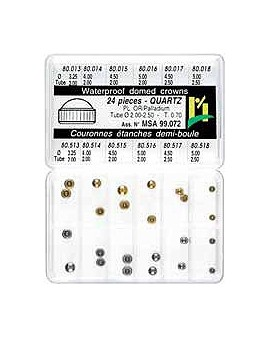 HALF BALL CROWNS, T. 0.70, ASS. 24 PCS JP T2.0/2.5