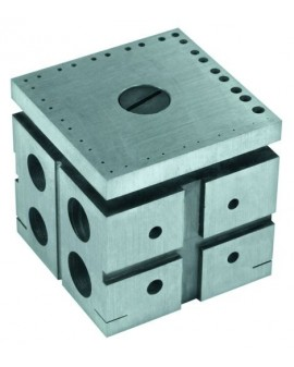 Hardened steel riveting stake 36 calibrated holes