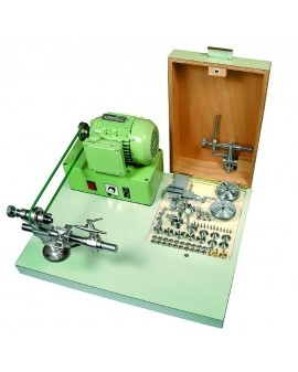 COMPLETE HIGH PRECISION LATHE STAR ON WOODEN BASE, REAM
