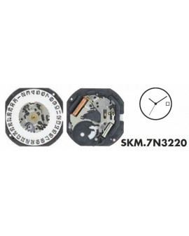 Movement Seiko 7N32-3H
