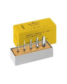 Assortment of 5 reamers for plugs Bergeon 6200-F