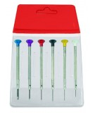 ASSORTMENT OF WATCHMAKER SCREWDRIVERS IN PLASTIC POUCH,