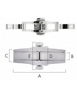 FOLDING CLASP A 40 - B 7 - C 11 - D 14 - E 21