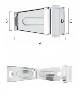 FOLDING CLASP A 35 - B 9.50 - C 10 - D 14