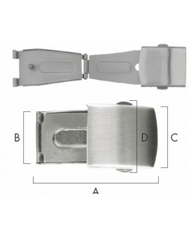 FOLDING CLASP WITH PUSH...