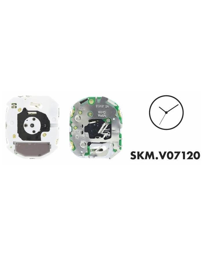 MOVEMENT SEIKO V07120, HAUT. 3.40, 3 AIGUILLES