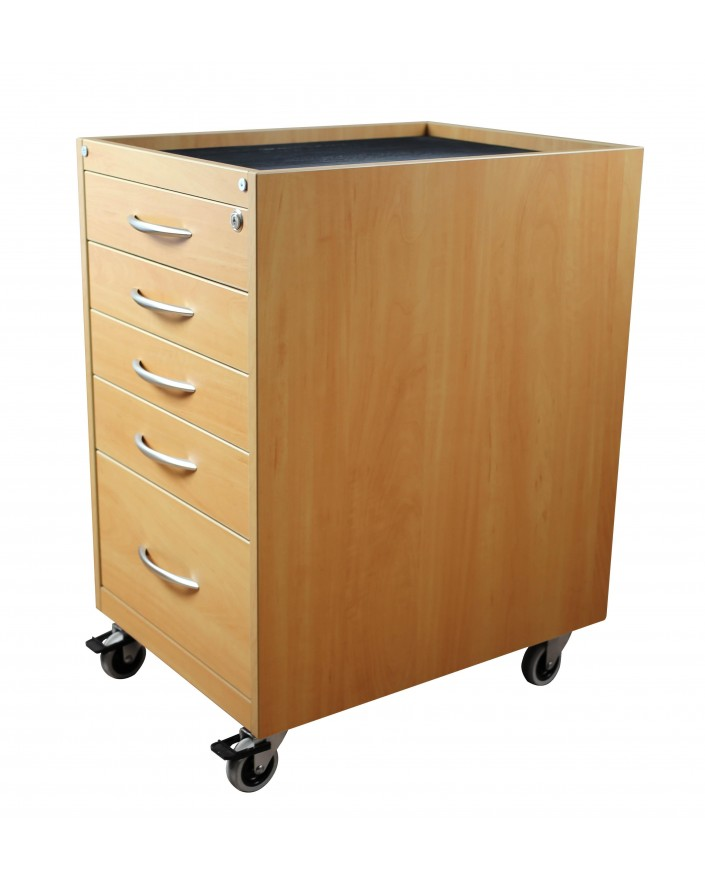 MOBILE CABINET FOR BENCH, ON 4 PIVOTING WHEELS (2 WHEEL
