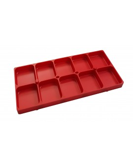 RED STACKABLE PLASTIC BOX...