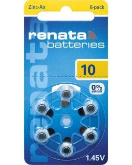 Battery acoustique RENATA AC10:blister de 6 st
