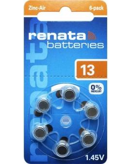 Battery acoustique RENATA AC13:blister de 6 st