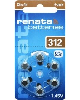 Battery acoustique RENATA AC312:blister de 6 st