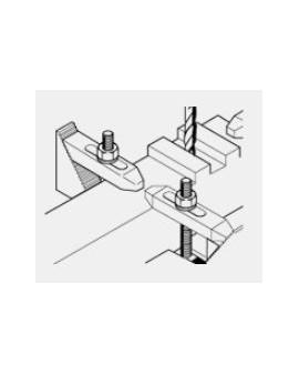 Brides de serrage crantées en acier Proxxon 24256